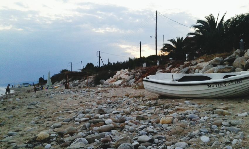 Greece Boat Sea Beach VisitGreece Sunset Sand Beach Photography GREECE ♥♥ My Country In A Photo