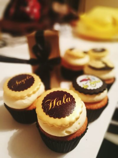 Sweet Food Indoors  Food And Drink Cupcake Close-up 2 Years Realationship Love ♥ Hala ANGELO Angel Wings Music Is My Life