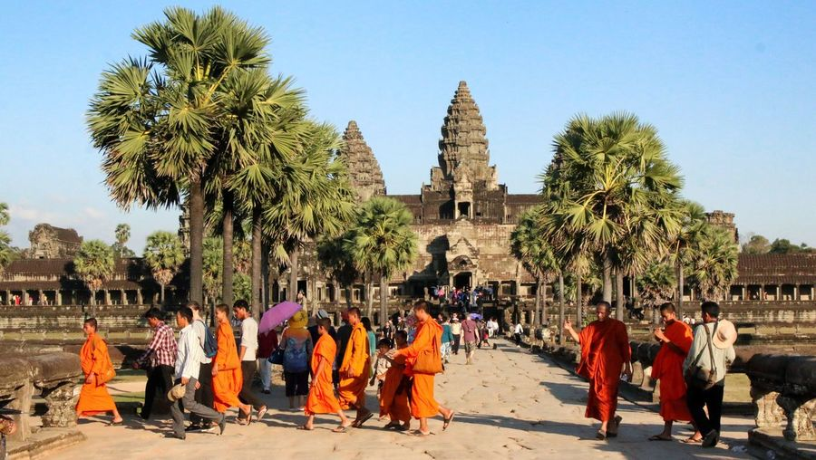 Angkor Wat Cambodge Temple Voyages Reisen Journey