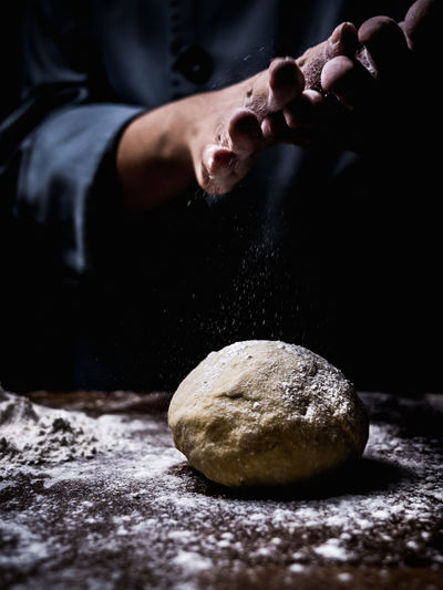 Bread Close-up Domestic Room Dough Flour Food Food And Drink Freshness Hand Headshot Human Hand Indoors  Kneading Lifestyles One Person Preparation  Preparing Food Real People Young Adult