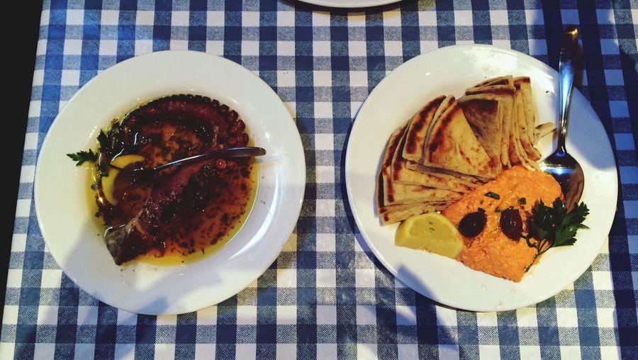 Octopus Greek Food Feta Yiayia Marys