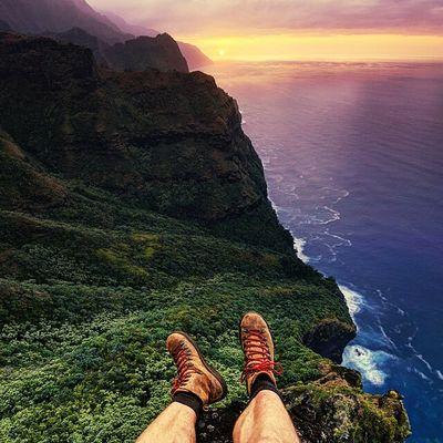 Ocean Relaxing Amazing View Enjoying Life Beautiful Nature Maui Hawaii Sunset Hawaii Hikingadventures Hiking Hawaii