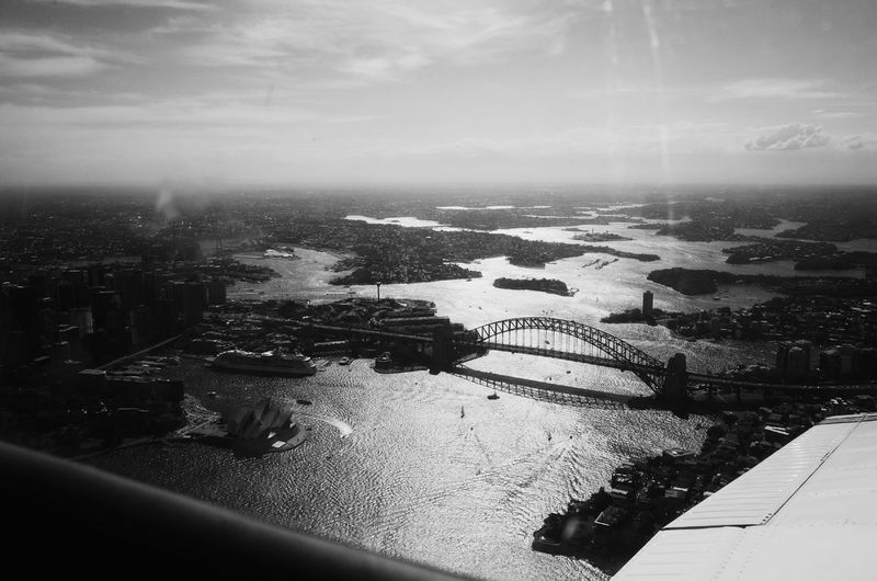 Afternoon sun over Sydney Harbour. Sydney Sydney Harbour Bridge Black And White