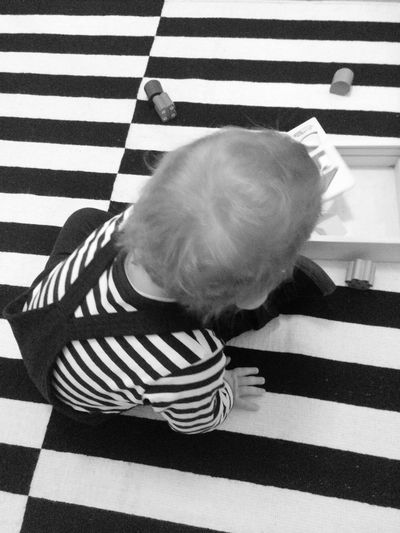 Stripes and Stripes Berlinkidz Stripes Stripes Everywhere Playroom Kidsroom Striped Baby One Person Full Length High Angle View Childhood Real People Indoors  People