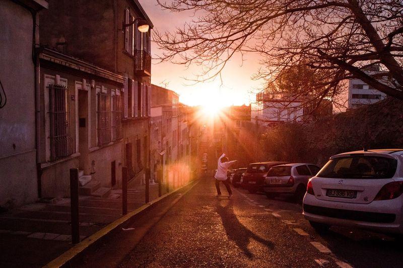 """ Paradise "" The Street Photographer - 2017 EyeEm Awards Sunset Street Outdoors Skateboarding Silhouette EyeEm Best Shots Getting Inspired Eye4photography  Orange Color"