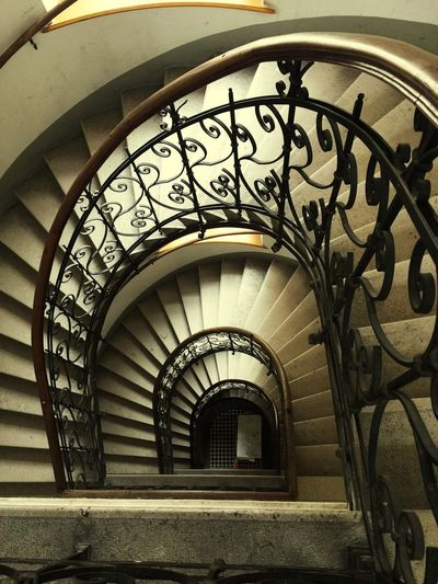 Staircase Steps And Staircases Built Structure Steps Spiral No People Österreich Wien Vienna Austria Day Ratschkygasse