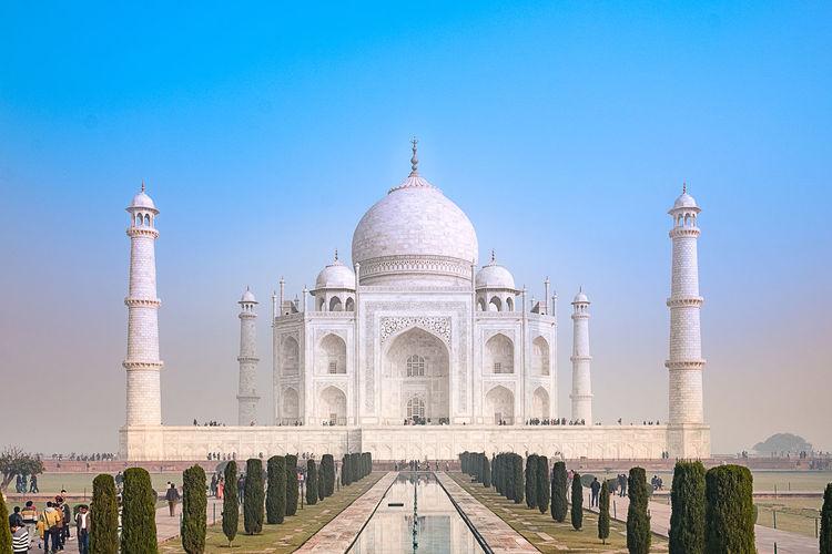 Taj mahal against clear sky