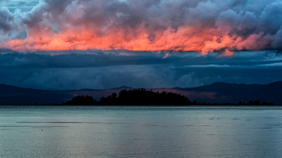 Beauty In Nature Cloud - Sky Day Mountain Mountain Range Nature No People Outdoors Scenics Sea Sky Tranquil Scene Tranquility Water