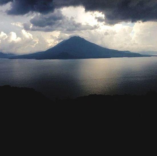 Beautiful Guatemala forever beautiful. Lake Mountain Nature Tranquil Scene Water Sky Day Eternity