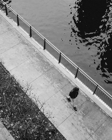 Beauty In Nature Blackandwhite Day High Angle View Monochrome Nature No People Outdoors Water