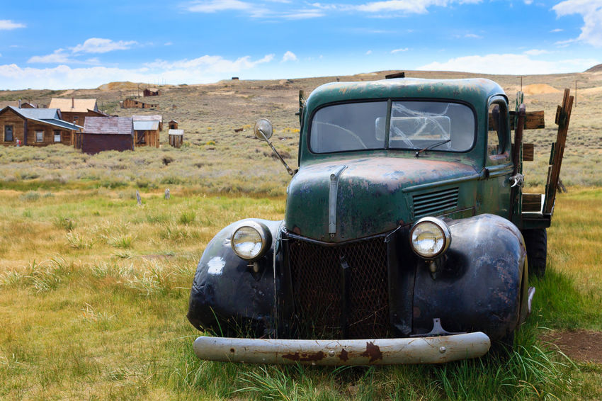 Old abandoned car from Bodie ghost town, California, USA Bodie Bodie Ghost Town Ghost Town USA California Mine Mining City Abandoned Agriculture Grille Vintage Car Run-down Deterioration Scrap Metal Damaged Obsolete