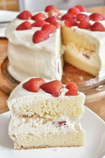 Strawberry short cake.. Strawberry Cake Cake Time Strawberries Sweet Dreams Dessert Delicious