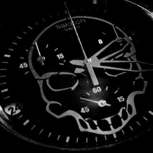 Skull Swisswatch Insomnia Playingwithmynewphone Swatch