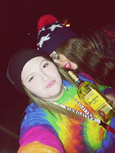 me n the bestie josé Tequila Drinking Friends