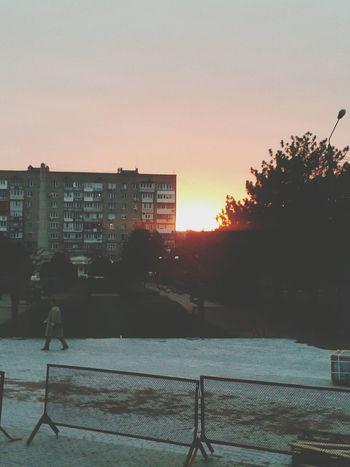 Закат в Ильичевске:)