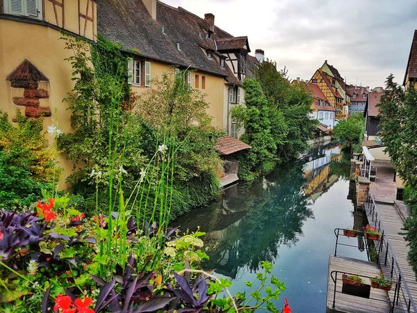 France Alsace Picturesque scenic Village Old Houses Framework River Colmar Tourist Town Scenic French