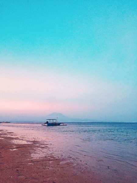 The ship and The mountain INDONESIA Bali Sanur Sea Water Beauty In Nature Sky Scenics - Nature Beach Land Sunset Horizon Over Water Horizon No People Blue Cloud - Sky Nature Outdoors