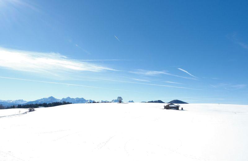 Snow Winter Cold Temperature Sky Scenics - Nature Blue Landscape Mountain White Color Frozen Sunlight Cloud - Sky No People Snowcapped Mountain