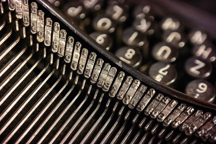 Close-up of old-fashioned typewriter