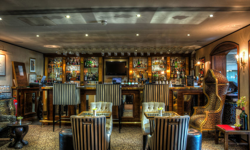 The Duke Of Richmond Hotel Bar Guernsey HDR Hdr_Collection Bar - Drink Establishment Chair Day Food And Drink Illuminated Indoors  No People Restaurant Seat Stool Table