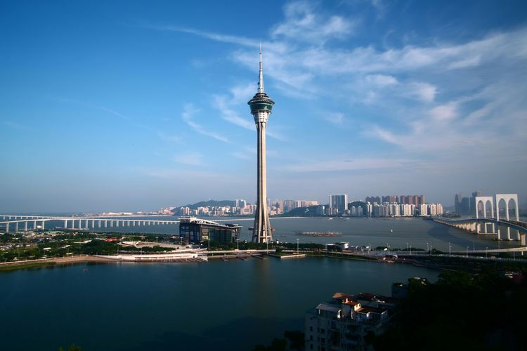Macau Tower (Direct-out) Hanging Out Taking Photos Check This Out Hello World Relaxing Enjoying Life Reflections And Shadows Clouds And Sky Evening Sky Reflections In The Water Light And Shadows Things I Like Sunset Sun Clouds Skylovers Sky Nature Beautifulinnature Naturalbeauty Photography Landscape [ [ [ [ Light And Shadow People Watching Fine Art Photography Macau Tower Macau, China