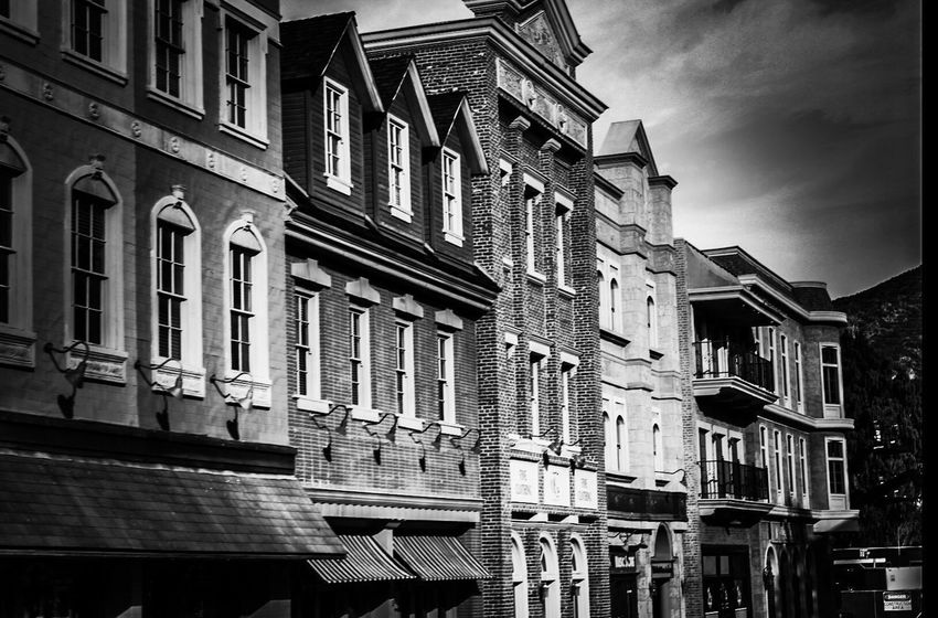 Universal Studios  Backlot Movie Location Black And White Collection  Architecture Building Exterior Window Built Structure No People Residential Building Outdoors City Day Sky Travel Destinations Travel Photography California USA History