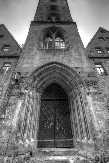 Architecture Building Exterior Built Structure No People History Sky Low Angle View Arch Day Outdoors Altenburg Blackandwhite Black And White Black & White