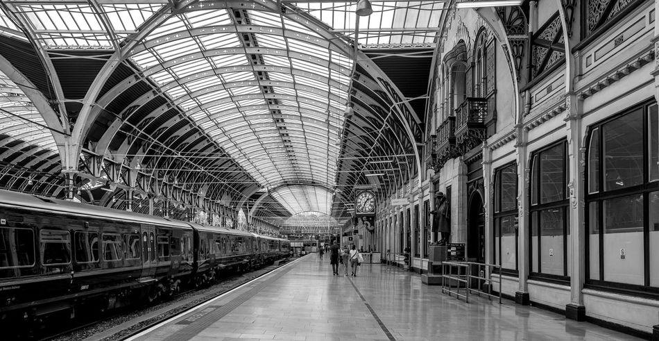 Span 1, Paddington Station, London Train Station Railway Railway Station Architecture Monochrome FUJIFILM X-T10 London Black And White Paddington Great Western Railway