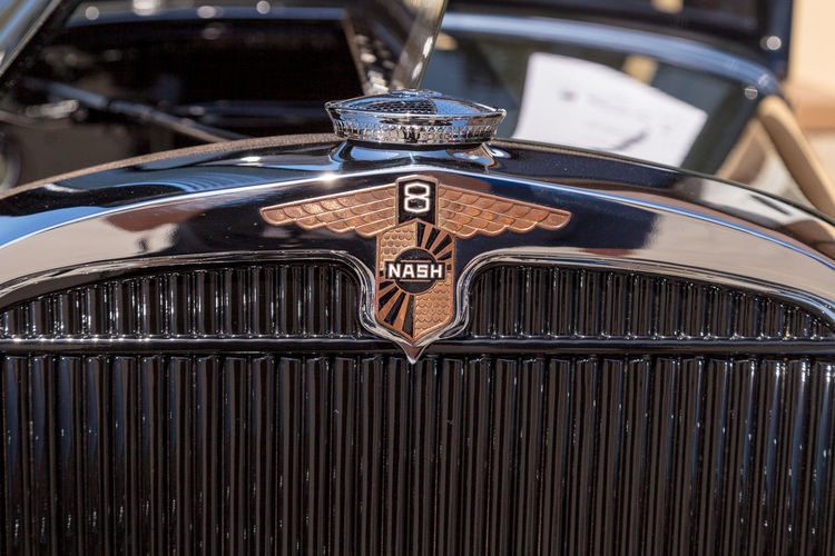 Laguna Beach, CA, USA - October 2, 2016: Green and black 1931 Nash 887 Sedan owned by Gary Marchetti and displayed at the Rotary Club of Laguna Beach 2016 Classic Car Show. Editorial use. 1931 Car Show Classic Car Classic Car Show Laguna Beach Nash Nash 887 Nash 887 Sedan Old Car Old Cars Vintage Car Vintage Cars