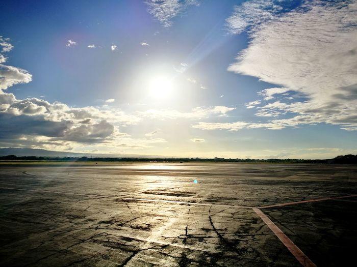 Sunset Cloud - Sky Tranquility No People Travel Destinations Day Managua Nicaragua Travel Photography Centroamerica Reflection Illuminated Nicarauga Aeroport ✈ Pista Sun