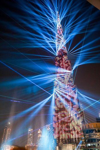 Burj Khalifa laser show Lasershow Burj Khalifa, Dubai Photography Photographer Photo Dubai Burj Khalifa Long Exposure Nightlife Built Structure