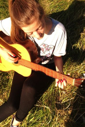 Guitar Enjoying The Sun Enjoying Nature Happyness Forever Young In The Forest 6 Months