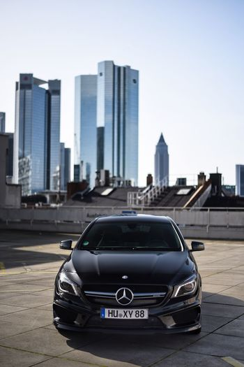 EyeEm Selects Skyscraper Architecture Sky Luxury City Life Car AMG Mercedes Mercedes-Benz Frankfurt Frankfurt Am Main Germany Outdoors Cla45 Mercedesamg First Eyeem Photo