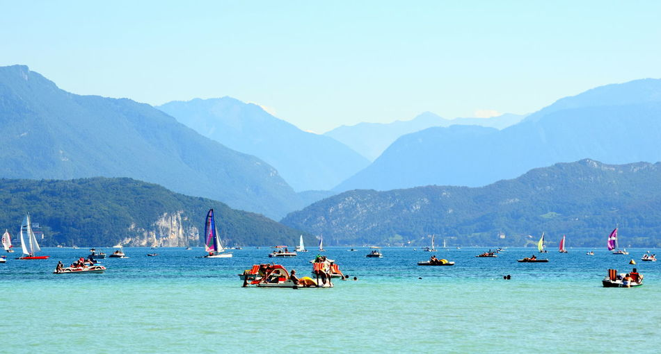 Annecy Annecy, France France Mountain Mountain Range Non-urban Scene Outdoors Sky Tourism Tranquil Scene Tranquility Vacations Water Lake