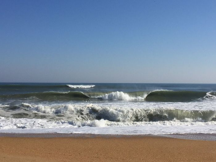 Sea Water Horizon Over Water Wave Clear Sky Beach Nature Beauty In Nature Scenics Outdoors No People Motion Day Power In Nature Sky OBX EyeEm Best Shots Yew Visitnc Surfs Up Travel 🌊🏄🏼🌾☀️