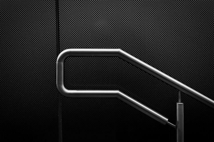 Handrail ©2015 Nicola Nigri Background Backgrounds Blackandwhite Full Frame Handrail  Man Made Object Metal Minimalism Monochrome No People Steel Streetphotography