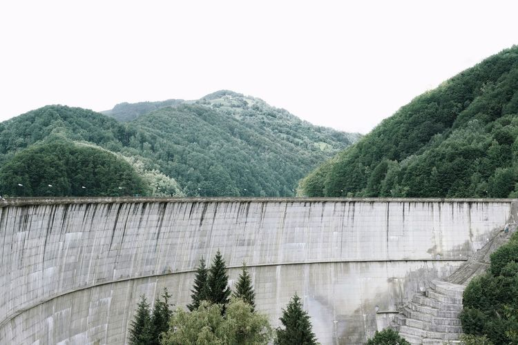 Wall Nature Tree Dam Architecture Sky Built Structure Hydroelectric Power Surrounding Wall Fortified Wall Stone Wall Power Station Reservoir Growing Mountain Range Mountain