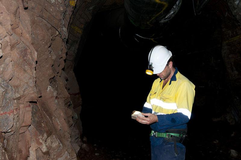 Man working in mine