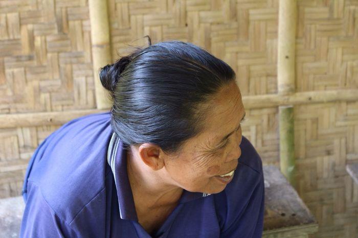 Smile Balinese Woman Enjoying Life