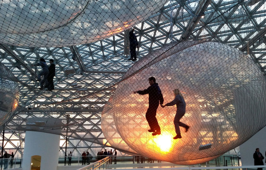 In orbit performance Abstractart Art Artist Bridge - Man Made Structure Built Structure City Life Duesseldorf Engineering Experience Experimental Eye Em Best Shots Famous Place Fun Modern Net Orbit Orbital Performance Performing Performing Arts Silhouette Sun Sunset Walking In The Mood For Love