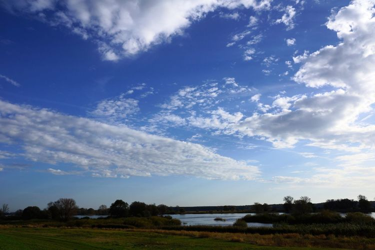 Beauty In Nature Cloud Cloud - Sky German Landscape Lower Saxony Nature No People Non-urban Scene Scenics Sky Tranquil Scene Tranquility Water