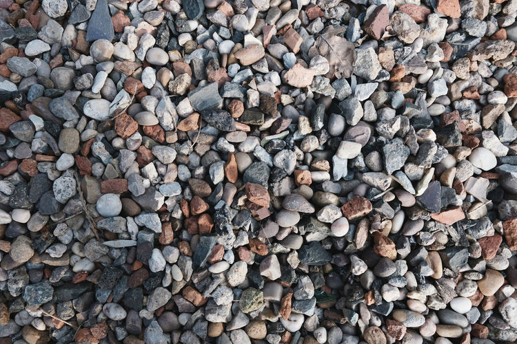 Close-up Fujifilm High Angle View Outdoors Pattern Pebble Rock Solid Textured