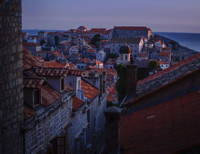Night Falling on Dubrovnik City View  cityscapes Beautiful City Travel Photography Travelgram Travel Destinations Old City Sundown Evening Light Evening Sky Croatia Dubrovnik, Croatia Dubrovnik Dusk In The City Dusk Blue Hour Architecture Building Exterior Built Structure City Sky Building Residential District High Angle View Roof Outdoors Cityscape Horizon Sea Roof Tile