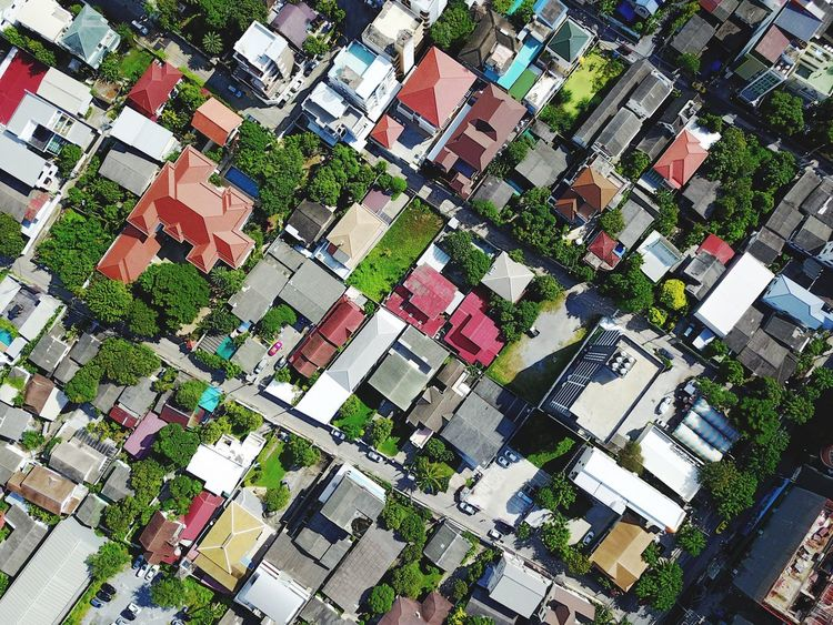 Architecture Building Exterior Aerial View Residential Building High Angle View Roof Built Structure Above Day Outdoors Town City No People Cityscape Tree Top View Home Residential District House Rooftop Aerial Shot Dronephotography