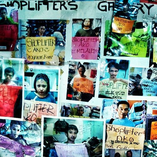 Wall of Shame: shoplifters gallery at an Ukay Ukay (thrift shop) in Cubao Shame Thriftshopping Quezoncity Manila nexus5