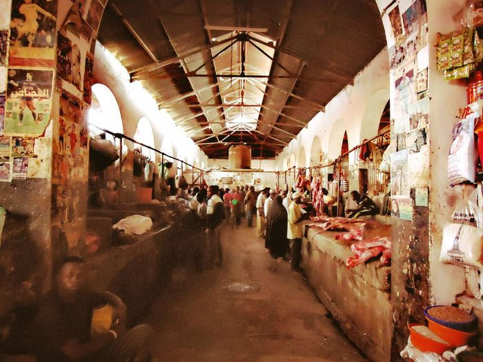 Zanzibar_Tanzania Market Large Group Of People Indoors  Day Architecture People Adult Adults Only