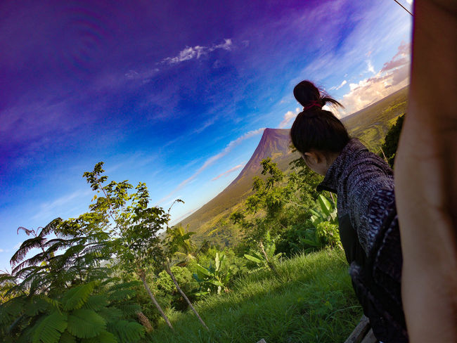 home sweet home Gopro GoProhero6 Philippines Mt. Mayon Albay Legazpi City View Green Hometown Rural Scene Tree Men Farmer Cereal Plant