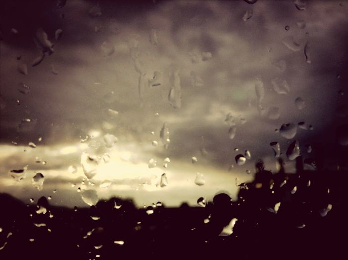 The rain will stop soon. Sky Clouds Rain