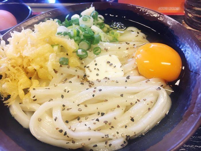 バカ一代 うどん 香川 高松 Udon 釜玉バター!
