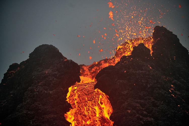Volcano eruption geldingardalir iceland